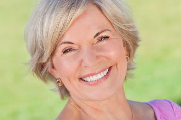 Mature female smiling